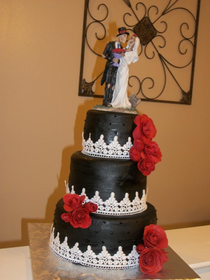 Wedding Cake - Gothic Romance  Everett Edibles