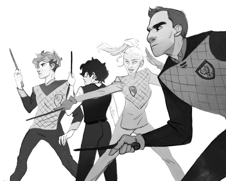 Triwizard Champions I probably spent way more time on this than I should have.