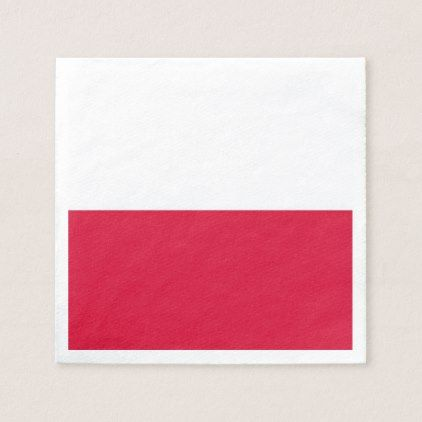 Patriotic paper napkins with Poland flag - kitchen gifts diy ideas decor special unique individual customized