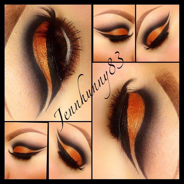 Maquillaje con cuenca marcada