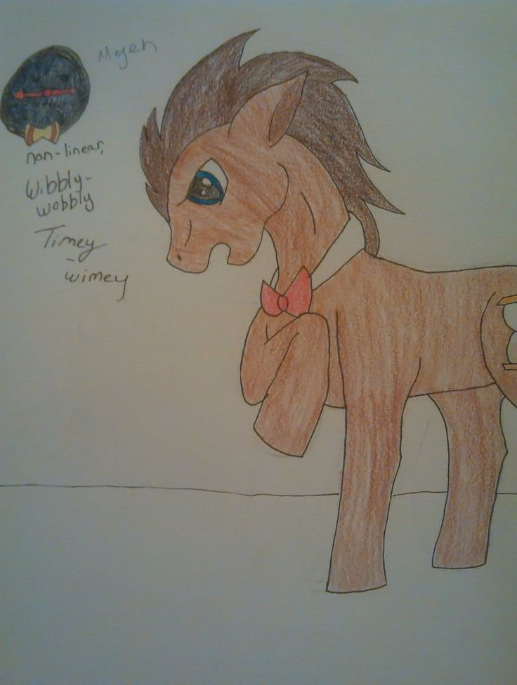Doctor Whooves Explains Time by Owlstar7.deviantart.com on @DeviantArt