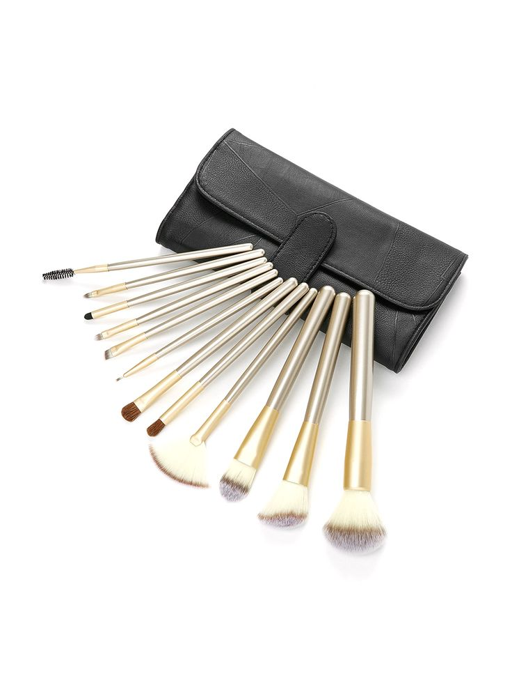 Shop Professional Makeup Brush Set 12pcs With Bag online. SheIn offers Professional Makeup Brush Set 12pcs With Bag & more to fit your fashionable needs.