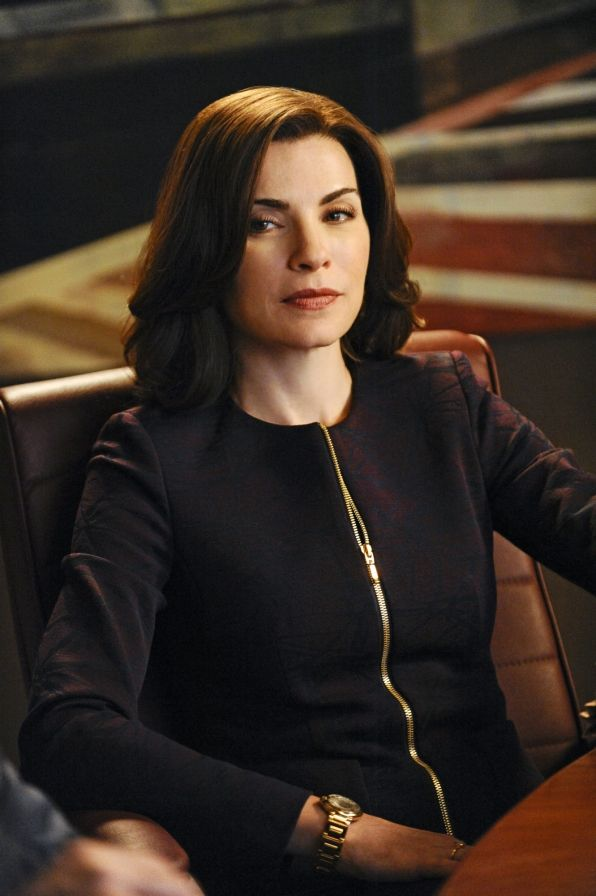 Alicia Florrick with a subtle print and some bling #thegoodwife  The Good Wife Photos: Alicia on CBS.com