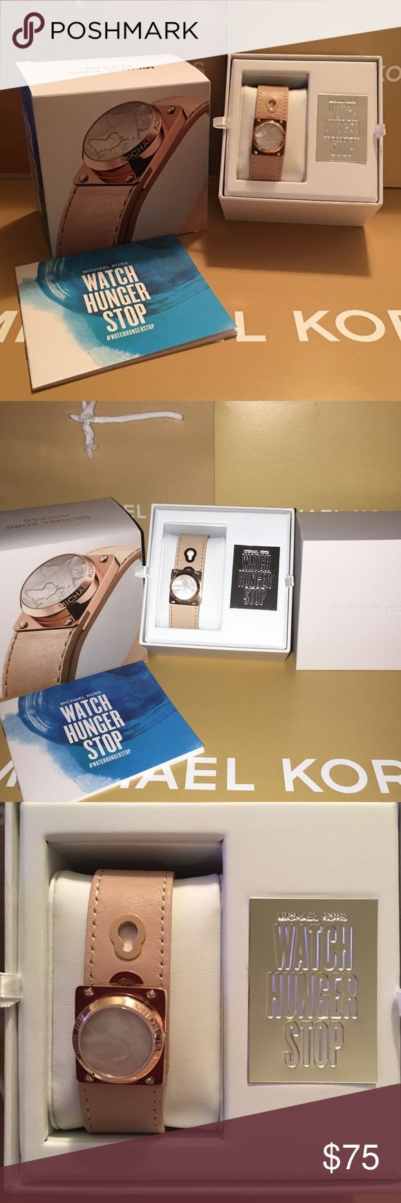 NEW MICHAEL KORS ACCESS ACTIVITY TRACKER WATCH YOUR ACTIVITY IN STYLE WITH MICHAEL KORS WATCH HUNGER STOP TRACKER.  THIS IS ROSE GOLD WITH LEATHER STRAP AND HAS AN ADJUSTABLE BAND.  THIS A BEAUTIFUL NICE SLEEK LOOK ON THE WRIST AND CLASSY....YES CLASSY:-)  COMES NEW IN BOX WITH BOOKLET AND I AM GIVING YOU THE MK BOX AND BAG WITH IT.....GREAT GIFT IDEA:-)  THANKS FOR VIEWING AND SHARING MY CLOSET:-) MICHAEL KORS Accessories Watches