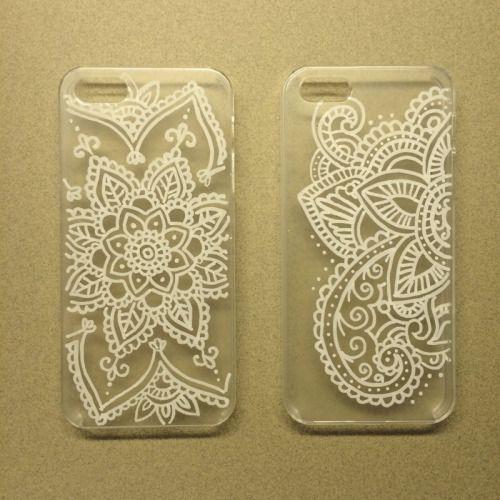 Mandala hand-painted phone case