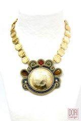 Midas statement gold necklace by Dori Csengeri