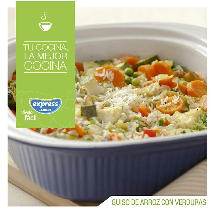 Guiso de arroz con verduras. #Recetario #Receta #RecetarioExpress #Lider #Food…