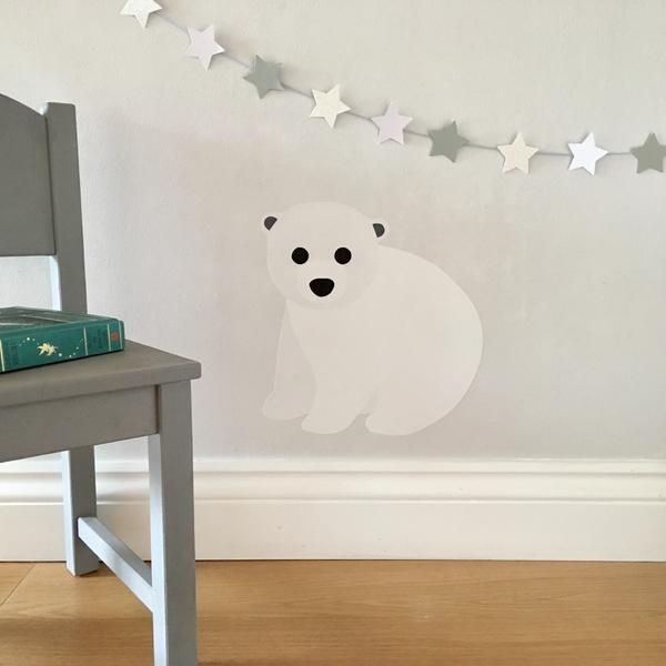 polar bear wall sticker / decal