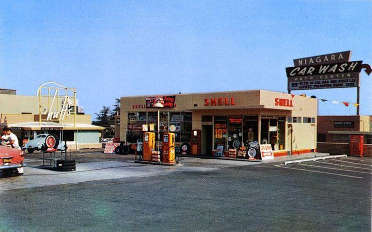 gas station car wash drive thru
