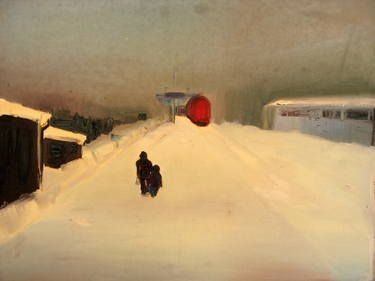 "Marta Zamarska; Painting, ""A Railway Impression II"" #art"
