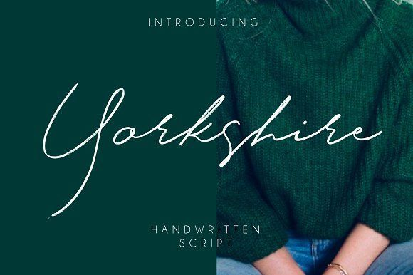 Yorkshire. This font is perfect for wedding invitation or your blog. Also with their help, you can create a logo or beautiful frame for your home. Or just use for your small business, book covers, stationery, marketing, magazines and more.