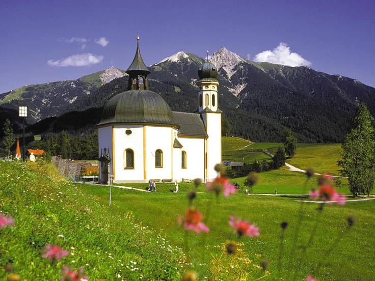 Seekirchl Church in Seefeld, Austria.  Our hotel was just across the field, within a very short walk.