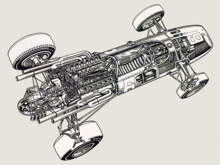 Ferrari Formula 1 Cutaway Drawings - Car Build Index in ...