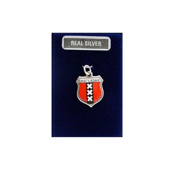 ZILVEREN BEDEL WAPEN AMSTERDAM 16 MM - Zilveren Bedels - Holland Souvenir Shop