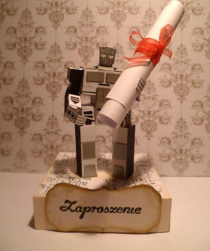 Zaproszenie na urodziny chłopca, który interesuje się robotyką ;)