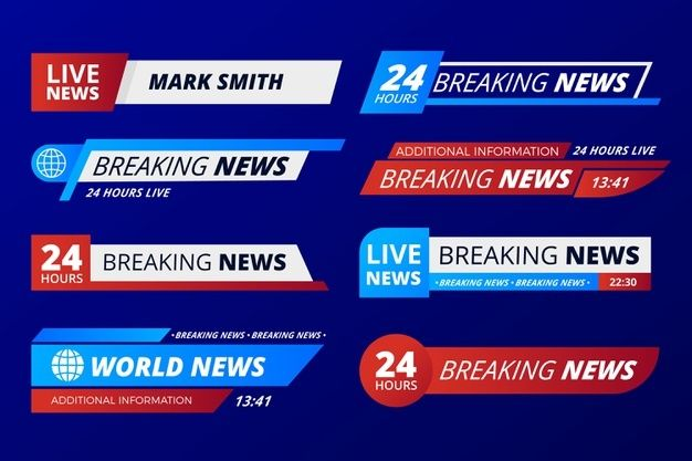 Breaking News Banners Template Breaking News Banner Template Banner