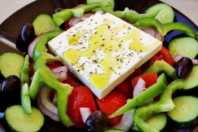 Il était une fois la pâtisserie...: Vacances en Grèce, à Paros {Cyclades} Salade grecque / Greec salad