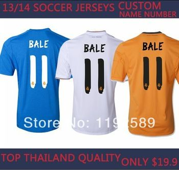 TOP Thai Quality soccer jersey gareth bale real madrid jersey soccer jerseys real madrid men camiseta real madrid 2014