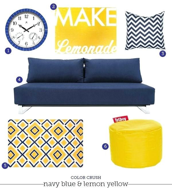 Navy Blue Yellow And Grey Bedroom Navy Blue Couch Rug Decorating Ideas Color Combo Crush Na Blue Yellow Bedrooms Blue And Yellow Living Room Yellow Living Room