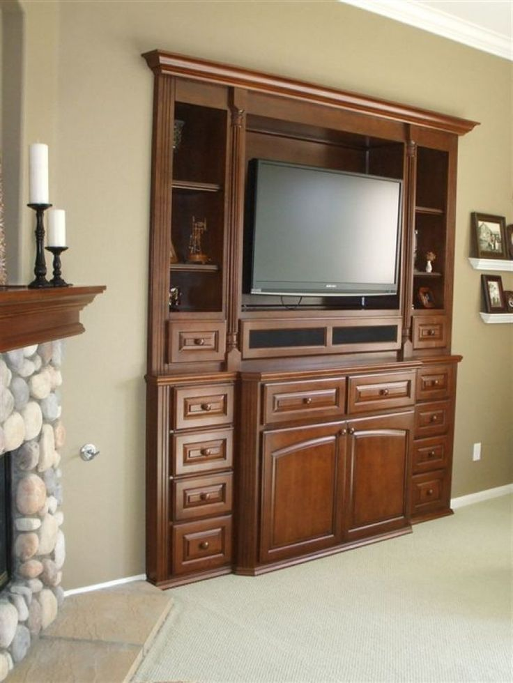 53 best images about water damage remodel on pinterest for In wall tv cabinet