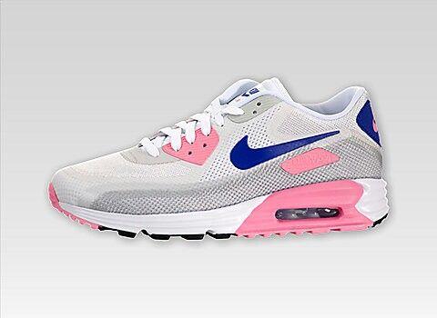 Nike Women's Air Max Lunar90 C3.0 (White/Concord/Pink Glow)