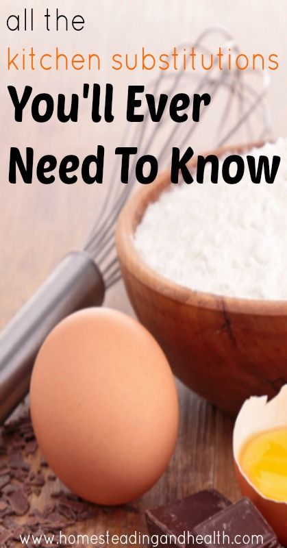 All the kitchen substitutions you'll ever need to know.
