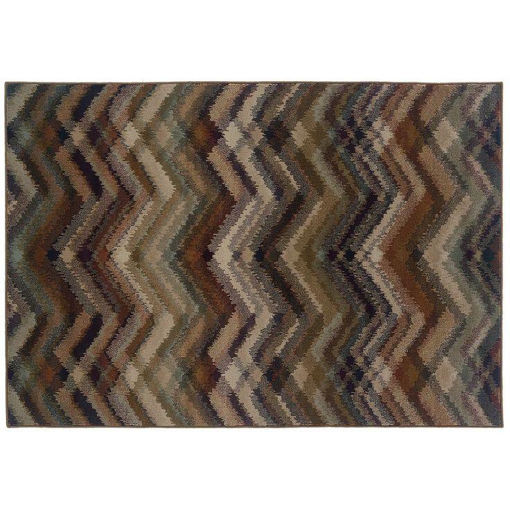 Oriental Weavers Adrienne Chevron Rug, Grey