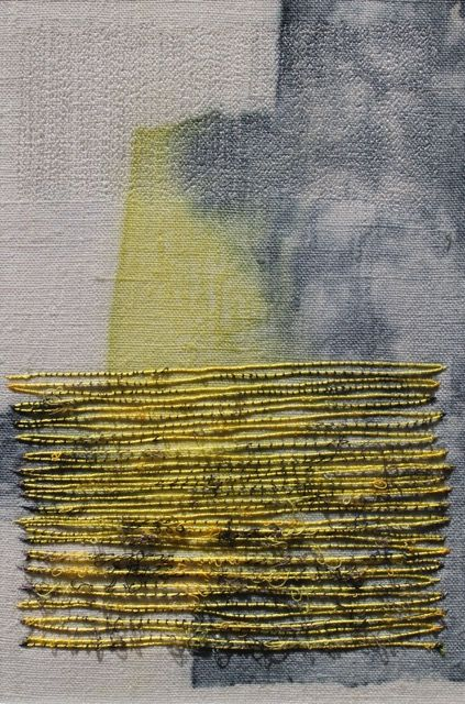 Dionne Swift - Yellow Block I like the combination of paint and stitches, which is effectively what these are. :)