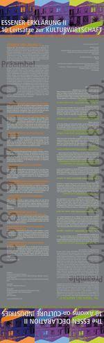 Essener Erklärung II - Zehn Leitsätze zur Kreativwirtschaft