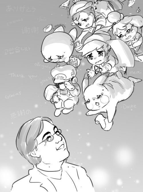 Rest in Peace, Satoru Iwata (1959-2015) || I'd just like to say that he was my hero since I was 5. He really is an awesome person! Thank you, Iwata-San for everything!