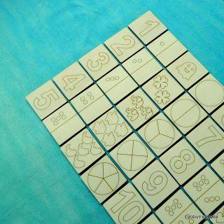 * Kartičky - ČÍSLICE, MNOŽSTVÍ, ZLOMKY - 6 mm silné