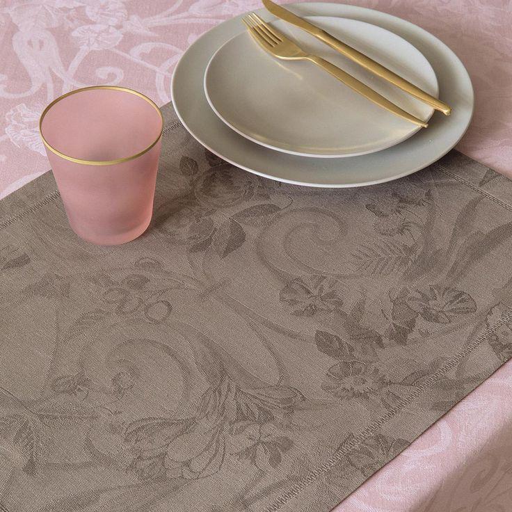 Set Tivoli Poivre gris 50x38 100% lin - Sets de table - La Table - Le Jacquard Français