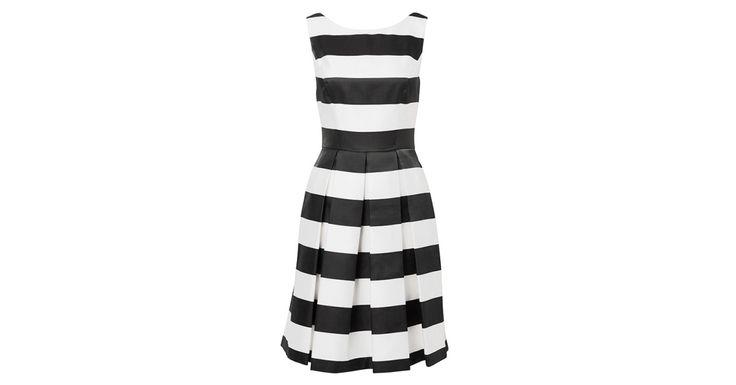 Review Australia   New York Stripe Dress Black/cream