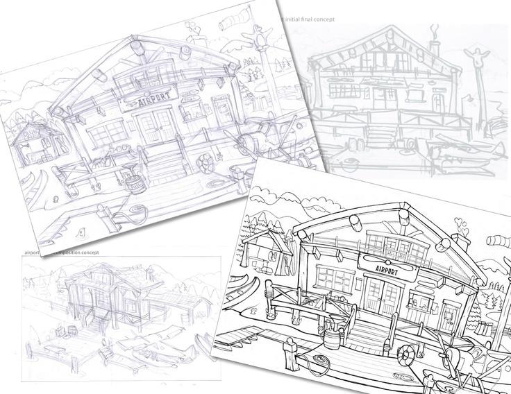 #Concept sketches for environment art