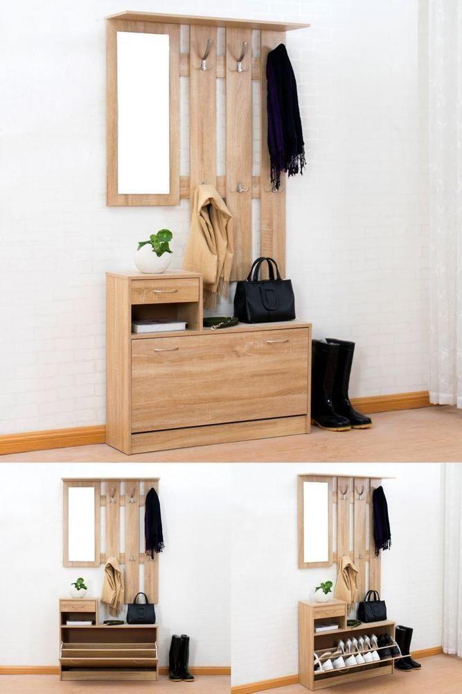 Entryway Storage Rack Clothes Coat