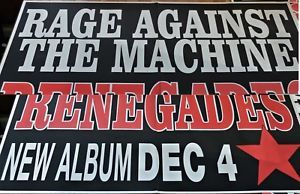 RAGE AGAINST THE MACHINE. 2000. 4 Sheet Billboard Poster. RENEGADES Album Promo. Heavy metal. 152 x 205cm. Click Pic to find in eBay Store. (Pic is 2 joined together so looks a little odd).