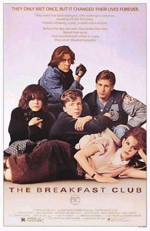 Directed by John Hughes.  With Emilio Estevez, Judd Nelson, Molly Ringwald, Ally Sheedy. Five high school students, all different stereotypes, meet in detention, where they pour their hearts out to each other, and discover how they have a lot more in common than they thought.