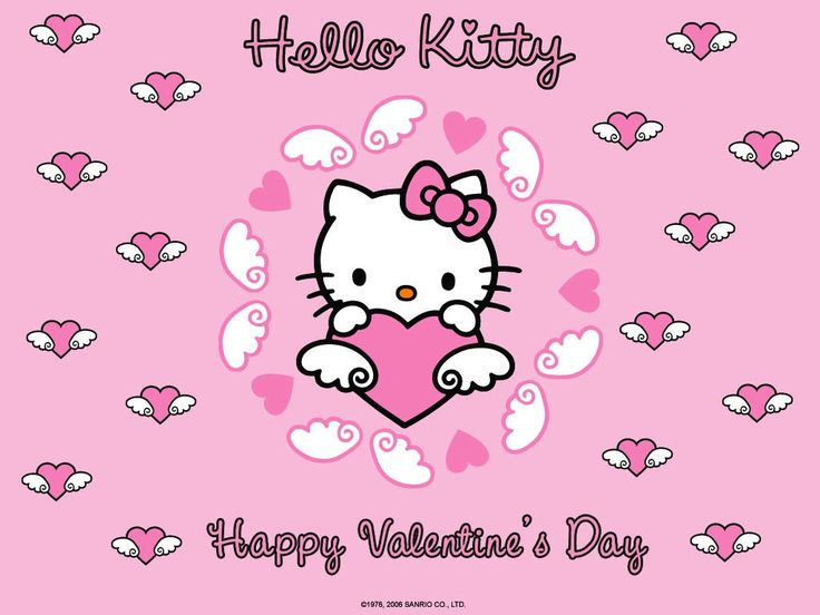 Hello Kitty Happy Valentines Day Wallpaper #HelloKitty #HelloKittyWallpaper #ValentinesDay
