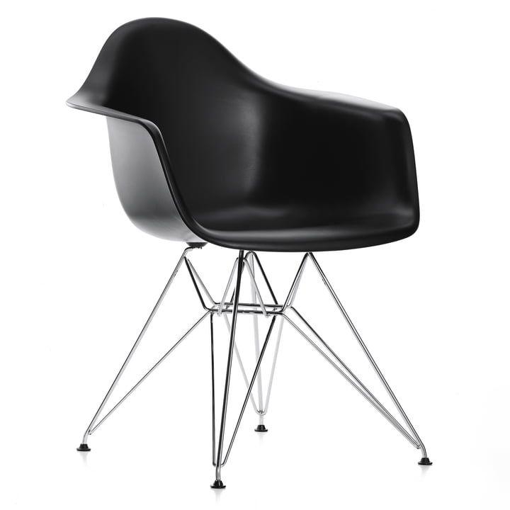 Aktion 4 X Vitra Eames Plastic Armchair Dar Verchromt Weiss Filzgleiter Schwarz Chairs In 2019 Eames Esszimmerstuhle Und Stuhle