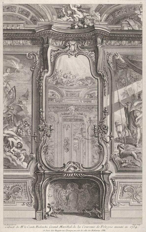 Juste Aurèle Meissonnier (French, 1695–1750). Cabinet de Mr le Compte Bielinski, from 'Oeuvres de Juste Aurelle Meissonnier', ca. 1742–1748