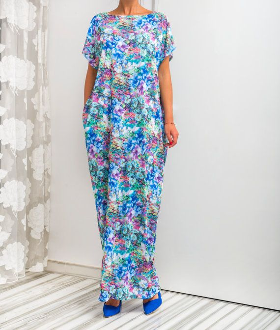 NEW SS16 Floral Caftan Maxi Dress Floral by cherryblossomsdress