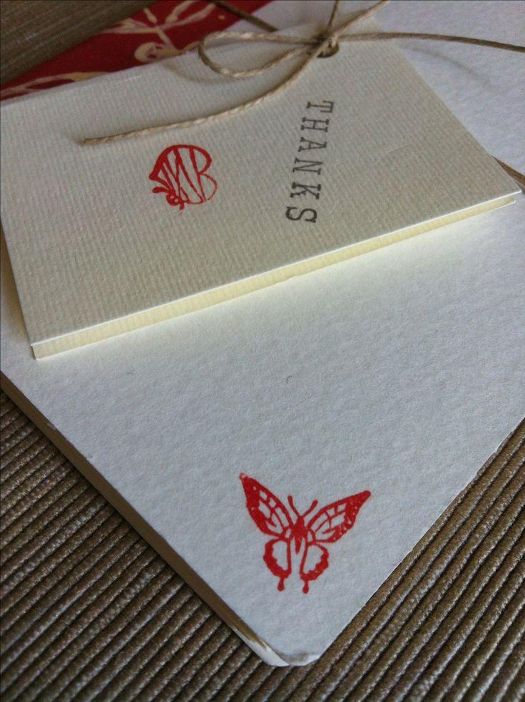 Mini Notebook Detail Handmade - flowers - butterfly