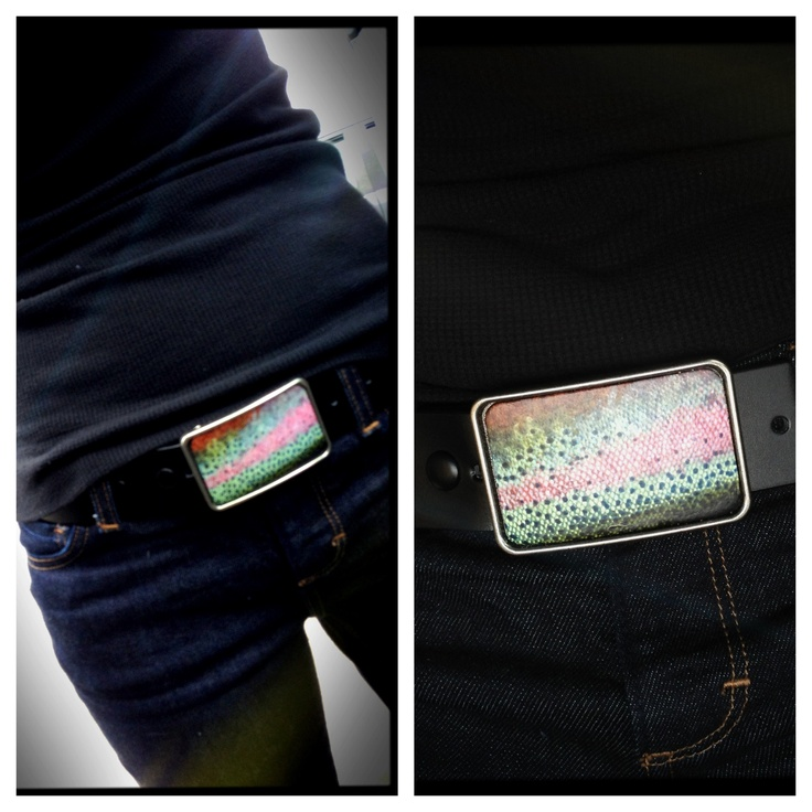 Rainbow Trout Buckle - http://www.etsy.com/shop/piprobins