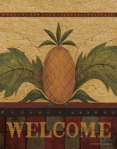 Welcome Pineapple Poster by Warren Kimble at AllPosters.com