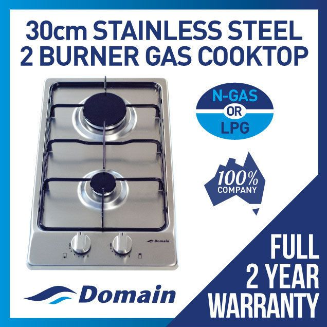 Two Burner Stainless Steel Gas