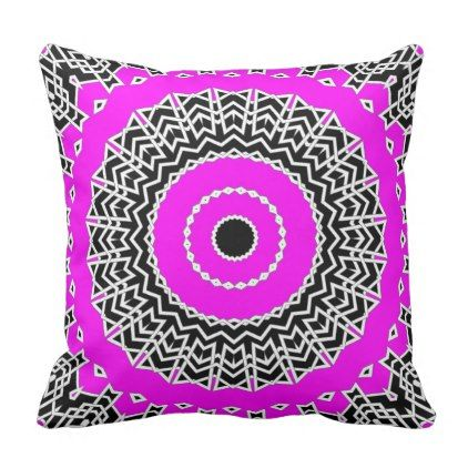 Prism Mandala ( Pink ) Throw Pillow - home gifts ideas decor special unique custom individual customized individualized