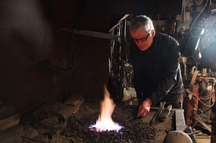 Balcksmith at work #visitsouthcoastfinland #Fiskars #blacksmith #iron #fire #seppä #rauta #tuli
