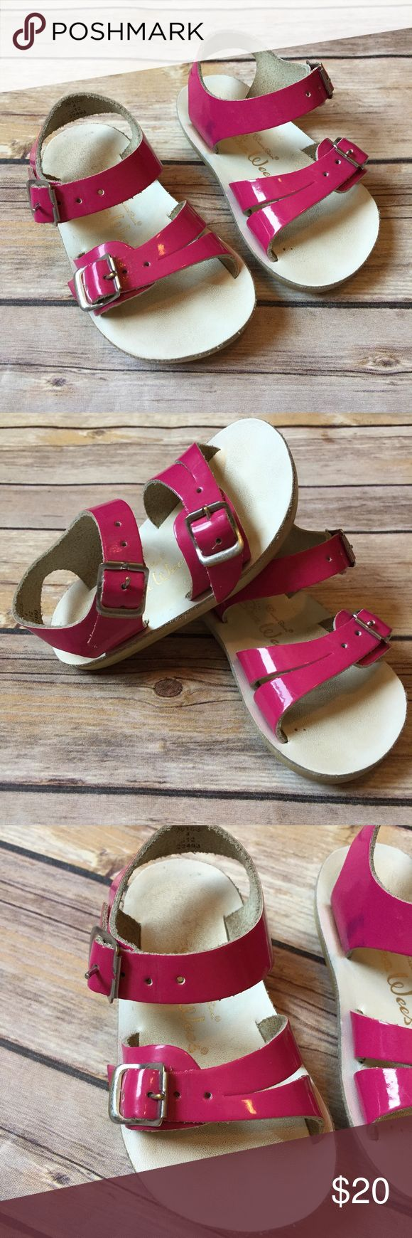 Salt Water Sandals Toddler size 4, pink Salt Water shoes. Very good condition. Only flaw is the marker on the bottoms of the shoes. Foot bed and straps in great shape. Salt Water Sandals by Hoy Shoes Sandals & Flip Flops