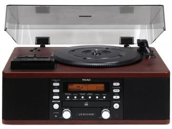 Vitrola TEAC LPR550 CD Player Fita Cassete - com Sistema HI-FI Entrada Auxiliar Rádio AM/FM