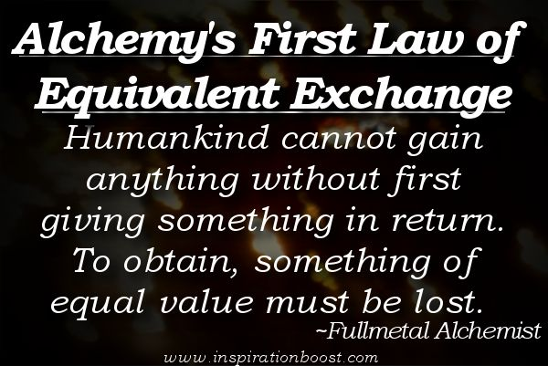 17 Best images about laws of equivalent exchange on ...